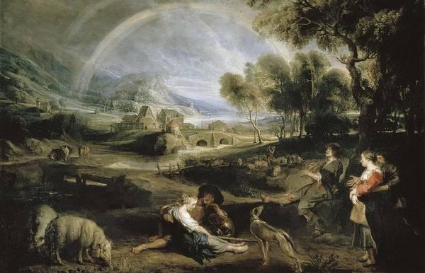 Ovine Photograph - Rubens, Peter Paul 1577-1640. Landscape by Everett