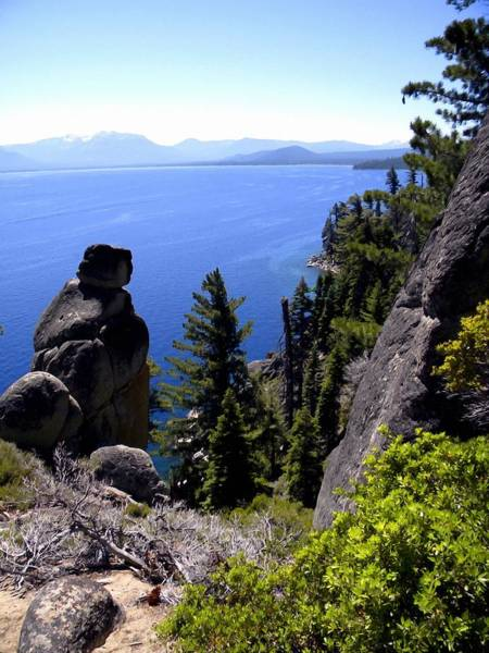 Photograph - Rubican Trail View Of  Lake Tahoe by Frank Wilson