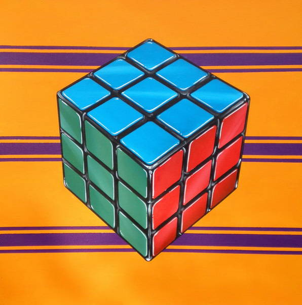Style Painting - Rubiks by Anthony Mezza