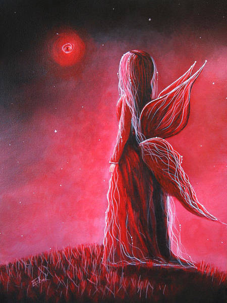 Faceless Painting - Ruby Fairy By Shawna Erback by Erback Art