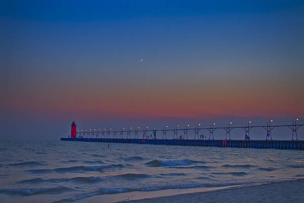 Photograph - Ruby Red And Crescent Moon by Jack R Perry