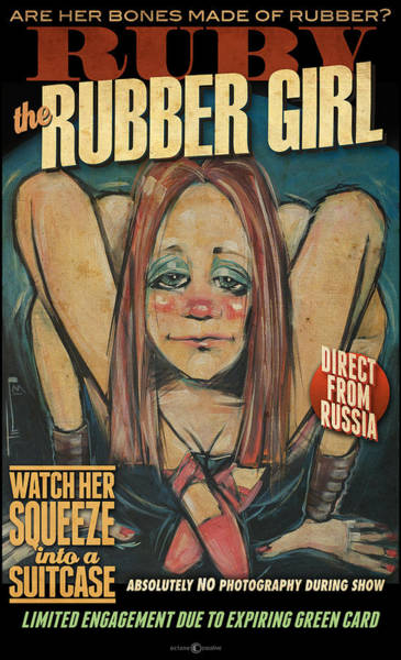 Painting - Ruby The Rubber Girl Poster by Tim Nyberg