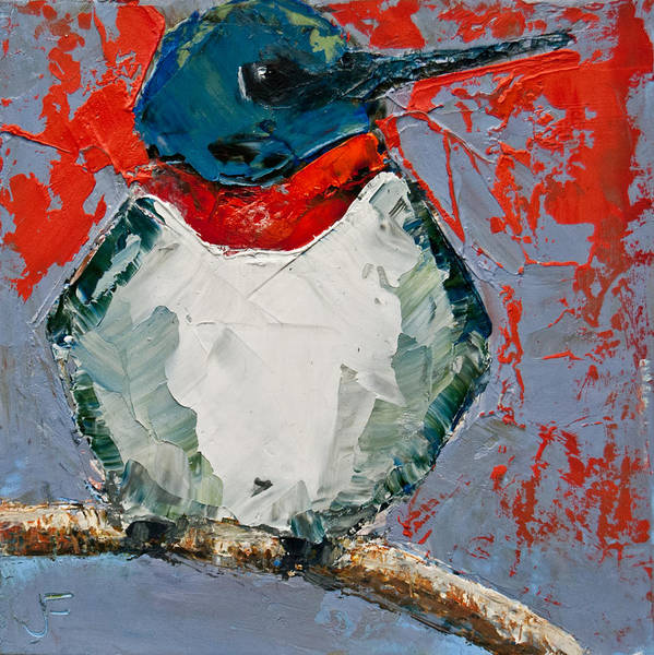 Painting - Ruby-throated Hummingbird by Jani Freimann