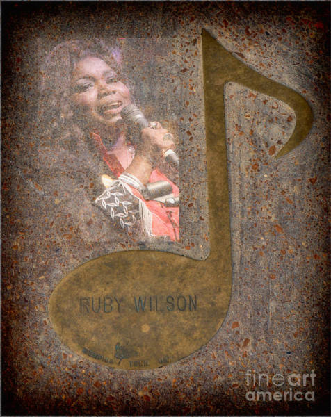 Photograph - Ruby Wilson Note by Donna Greene