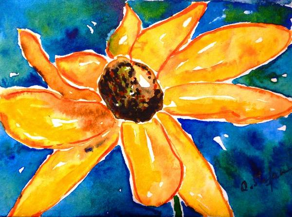 Painting - Rudbeckia - Black Eyed Susan - Flower by Cristina Stefan