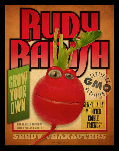 Digital Art - Rudy Radish Seed Pack by Tim Nyberg