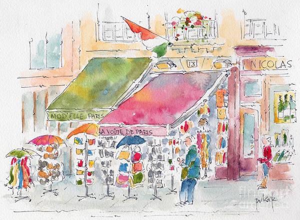 Painting - Rue De Buci Paris by Pat Katz