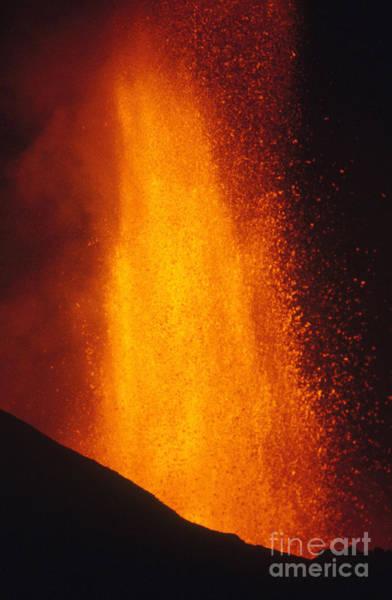Photograph - Rugarambira Volcano Erupting by Krafft Explorer