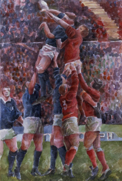 Rugby International, Wales V Scotland Wc On Paper Art Print