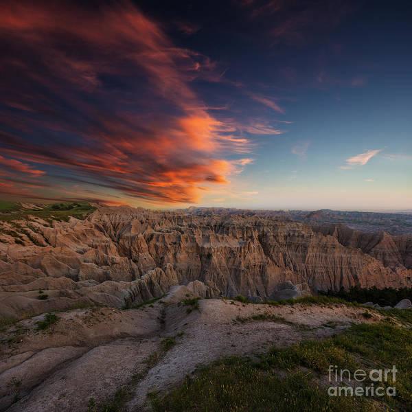 Badlands Photograph - Rugged Beauty 2 by Aaron J Groen