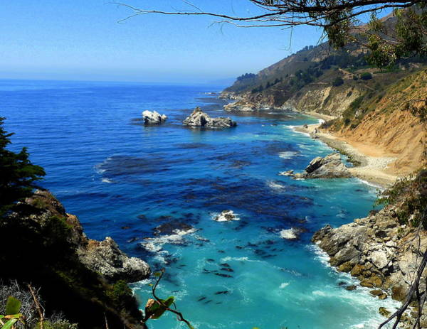 Photograph - Rugged California Coastal Seascape by Jeff Lowe
