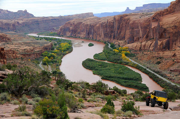 Spider Rock Photograph - Rugged Moab Rim Trail by Gary Whitton