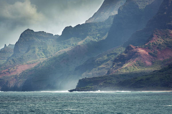 Waimea Canyon Photograph - Rugged Na Pali Coast Of Kauai Hawaii Hz by Yinyang