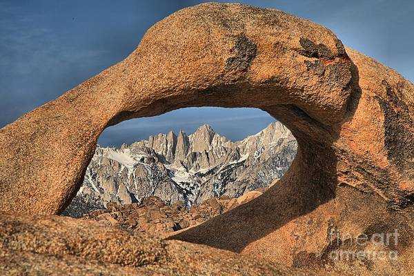 Photograph - Rugged Peaks Through Mobius by Adam Jewell