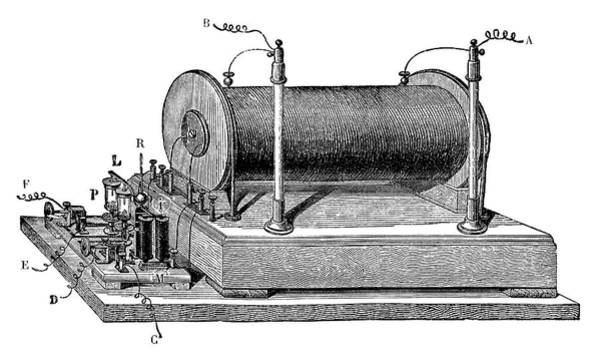 1851 Photograph - Ruhmkorff Coil by Science Photo Library