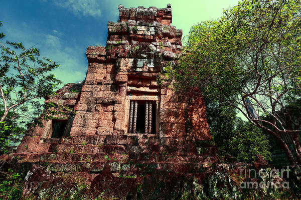 Reap Photograph - Ruin At Angkor by Julian Cook