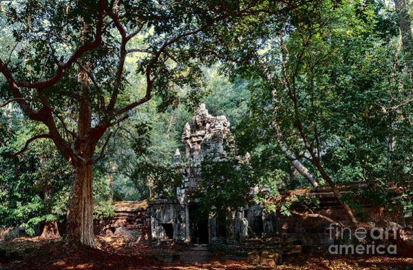 Reap Photograph - Ruin At Angkor Wat by Julian Cook