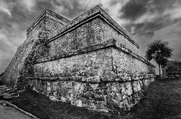 Mono Photograph - Ruin At Tulum by Julian Cook