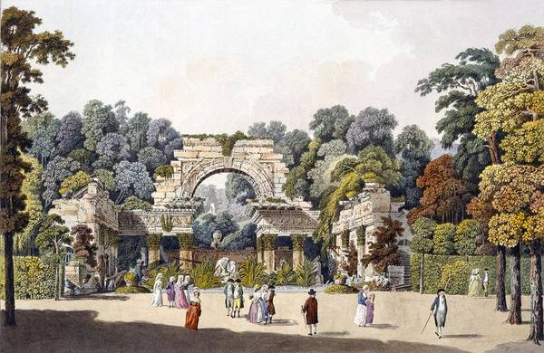 Palace Drawing - Ruin In The Garden Of The Palace by Laurenz Janscha