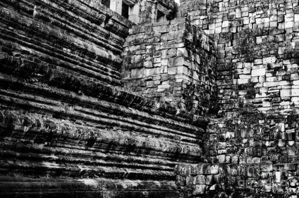 Photograph - Ruin Wall At Angkor Thom by Julian Cook