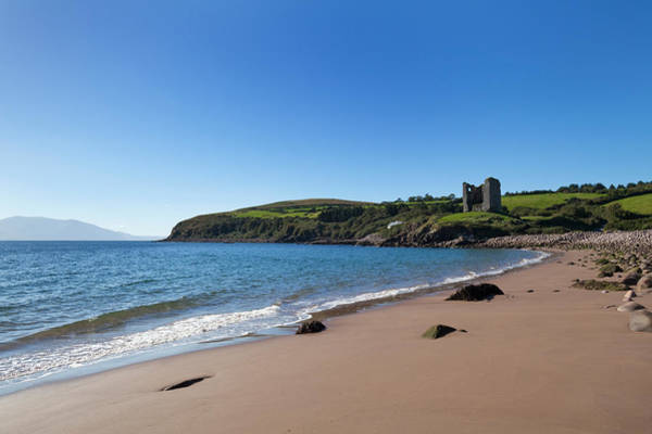 Dingle Peninsula Photograph - Ruined 16th Century Minard Castle by Panoramic Images