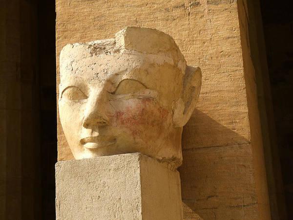 Photograph - ruined head of Hatshepsut by Brenda Kean