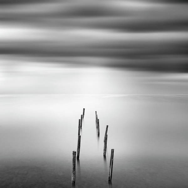 Silky Wall Art - Photograph - Ruined Pier 05 by George Digalakis