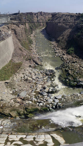 Lima Photograph - Ruins Along A River, Lima, Peru by Panoramic Images