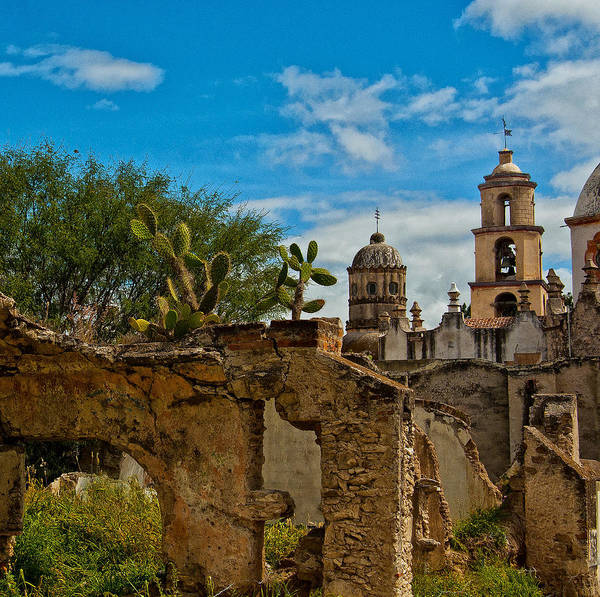 Atotonilco Photograph - Ruins And Cathedral by Sandi Bosley