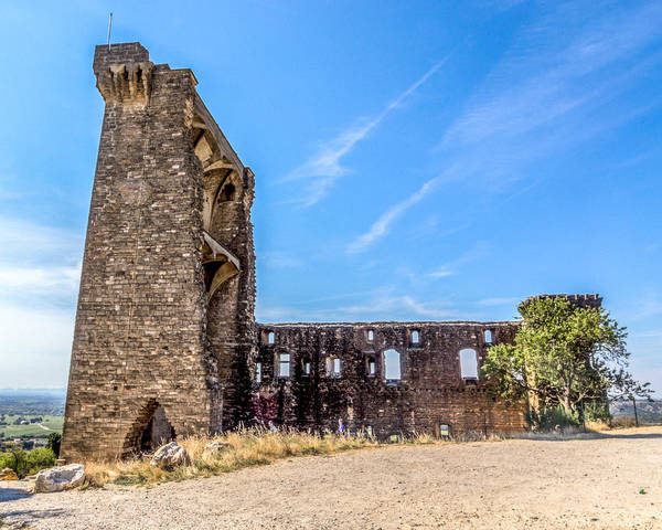 Chateauneuf Photograph - Ruins At Chateauneuf Du Pape by Anita Miller