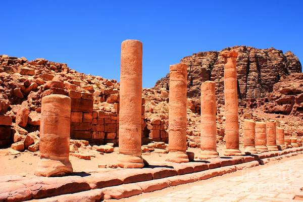 Photograph - Ruins In Petra by David Birchall