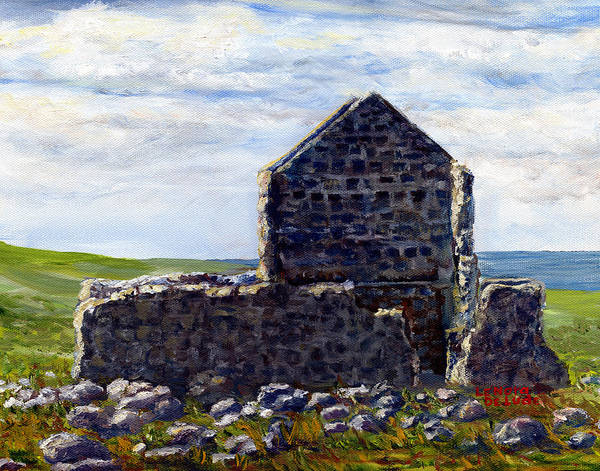 Painting - Ruins In Tasmania On The Sea Shore by Lenora  De Lude