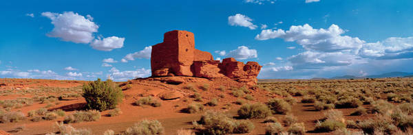 Wupatki Photograph - Ruins Of A Building In A Desert, Wukoki by Panoramic Images