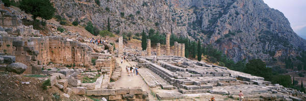 Wall Art - Photograph - Ruins Of A Stadium, Delphi, Greece by Panoramic Images