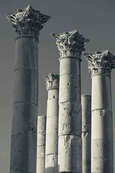 Jerash Photograph - Ruins Of Roman-era Columns, Jerash by Panoramic Images