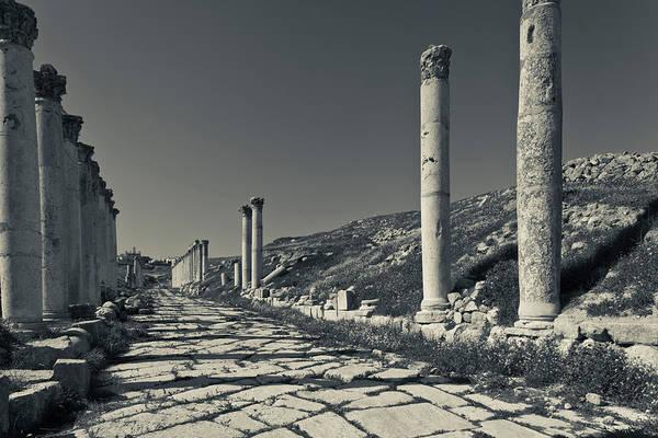 Jerash Photograph - Ruins Of Roman-era Columns by Panoramic Images