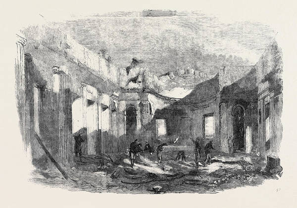 Ukraine Drawing - Ruins Of The Church Of St. Peter And St by English School