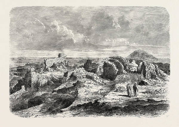 Wall Art - Drawing - Ruins Of The Labyrinth And Its Pyramid by Litz Collection