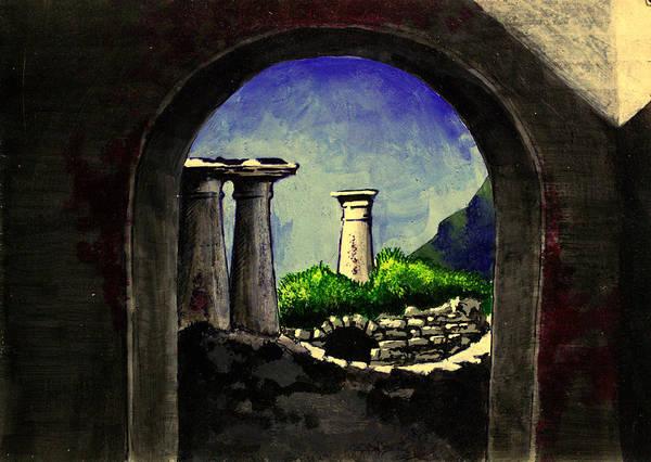 Wall Art - Painting - Ruins by Salman Ravish