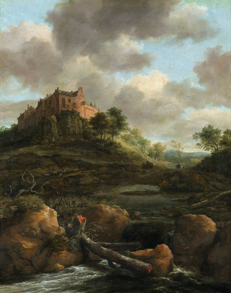 Wall Art - Painting - Ruisdael Centheim Castle by Granger