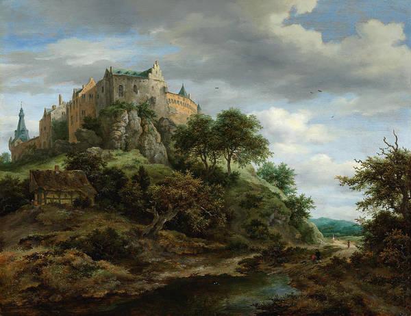 Wall Art - Painting - Ruisdael View Of Bentheim Castle by Granger