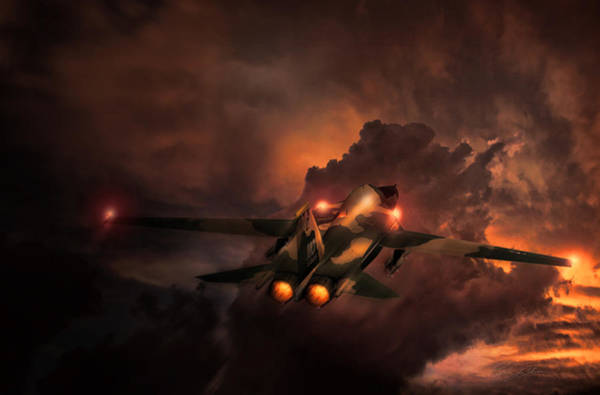 General Dynamics Digital Art - Rule The Night F-111 by Peter Chilelli
