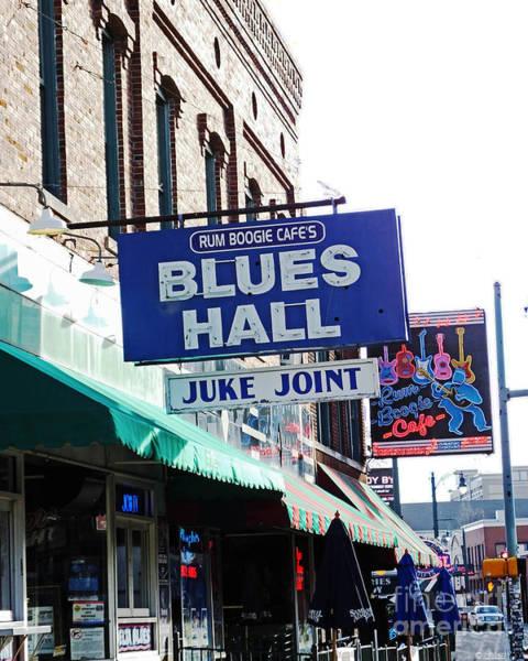 Photograph - Rum Boogie Blues Hall Beale St Memphis by Lizi Beard-Ward