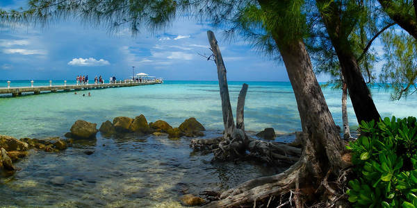 Photograph - Rum Point Pier by Gordon Engebretson