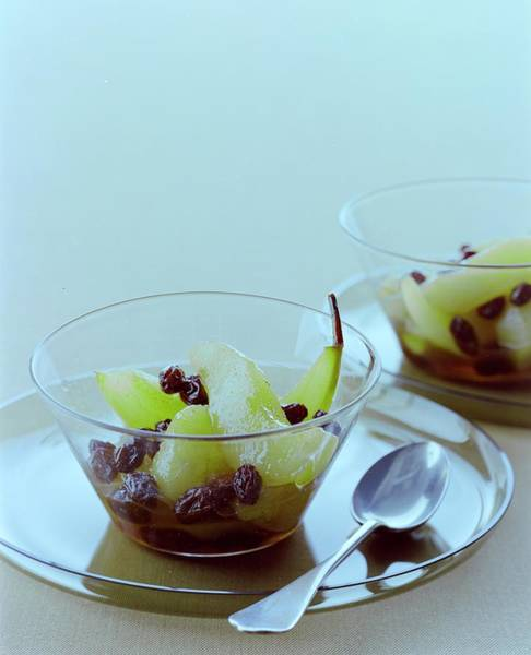 Sweet Photograph - Rum Raisin Poached Pears by Romulo Yanes