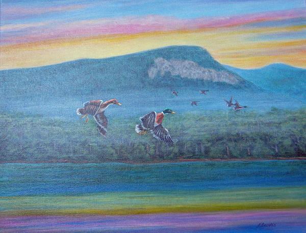 Painting - Rumbling Bald Mallards by Fran Brooks