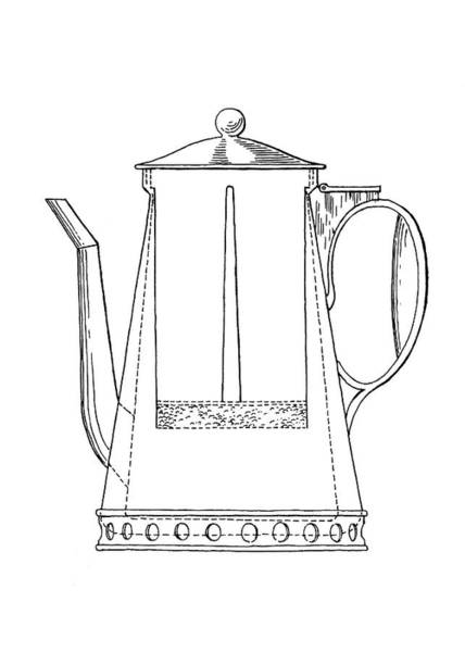 1812 Photograph - Rumford Coffeemaker by Emilio Segre Visual Archives/american Institute Of Physics