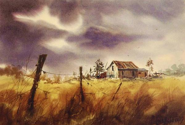 Fencepost Painting - Run For Cover by John McDonald