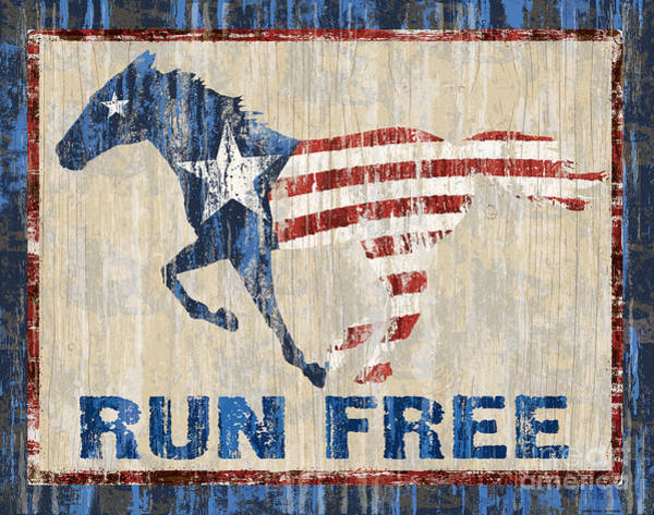 Painting - Run Free by JQ Licensing