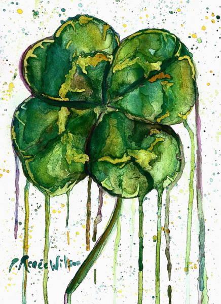 Lucky Clover Painting - Run O' Luck by D Renee Wilson